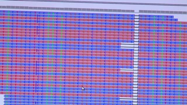sequences on a computer screen at northshore university health system in chicago on dec. 13, 2016. - dna鑑定点の映像素材/bロール