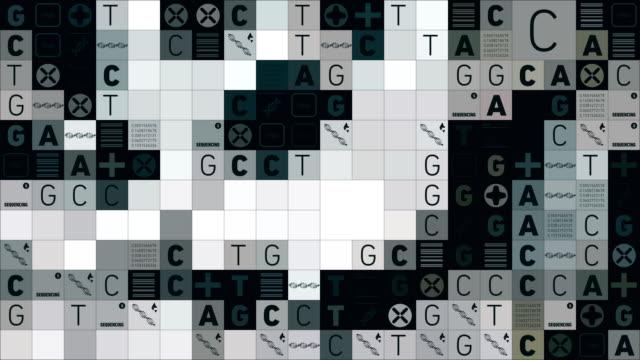 vídeos de stock, filmes e b-roll de sequencial de dna - pesquisa genética