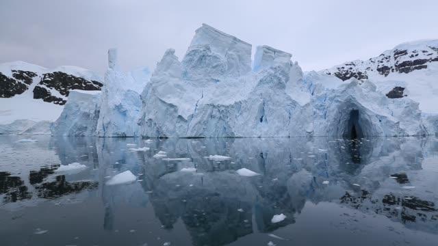 Seracs on a receding glacier at Neko Harbour in Paradise Bay, Antarctic Peninsular.