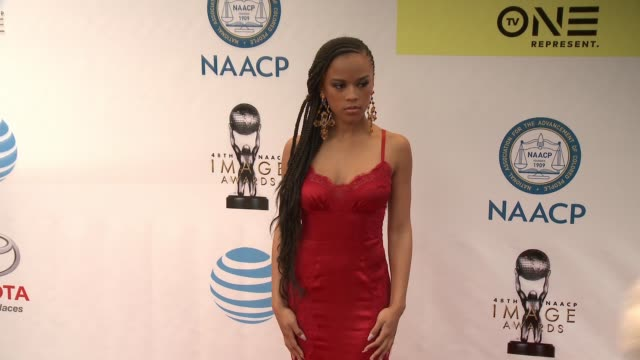 Serayah McNeill at 48th NAACP Image Awards at Pasadena Civic Auditorium on February 11 2017 in Pasadena California
