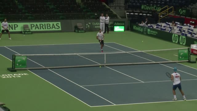 Serbia and defending champions the Czech Republic were tied 11 after the first day of the Davis Cup final on Friday as Novak Djokovic and Tomas...