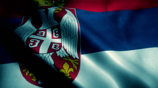 serbia flag - all european flags stock videos and b-roll footage