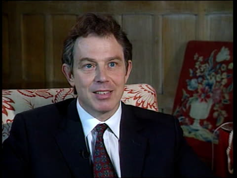 kosovo nato attacks day four itn prime minister tony blair mp interview sot these massacres are not consequence of nato air strikes they are... - serbia stock videos & royalty-free footage