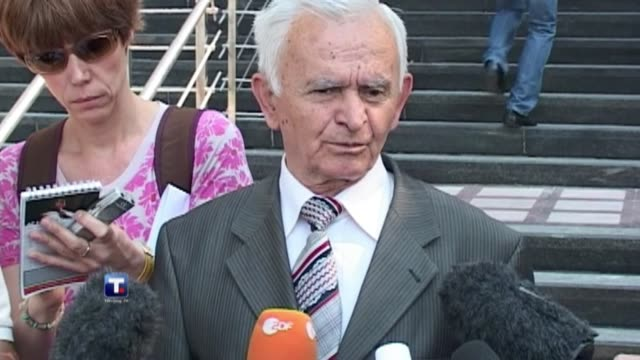 serbian judges tuesday rejected an appeal by ratko mladic against his transfer to a un court, paving the way for the bosnian serb ex-army chief to... - ratko mladic stock videos & royalty-free footage