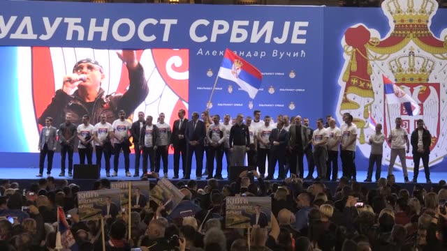 serbian president aleksandar vucic, prime minister ana brnabic, foreign minister ivica dacic, current chairman and serb member of the tripartite... - serbia stock videos & royalty-free footage