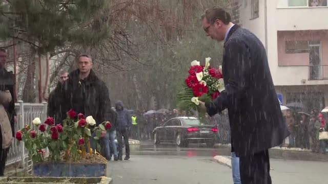 Serbian President Aleksandar Vucic visited on Saturday the murder scene where local Serbian political leader Oliver Ivanovic in northern Mitrovica...