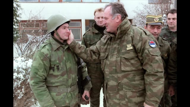 serbian president boris tadic announced on thursday that former bosnian serb military chief ratko mladic has been arrested after nearly 16 years on... - ratko mladic stock videos & royalty-free footage