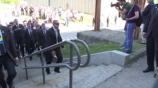serbian prime minister aleksandar vucic arrived on saturday to srebrenica to attend a ceremony marking the 20th anniversary of the massacre committed... - yugoslav wars stock videos & royalty-free footage