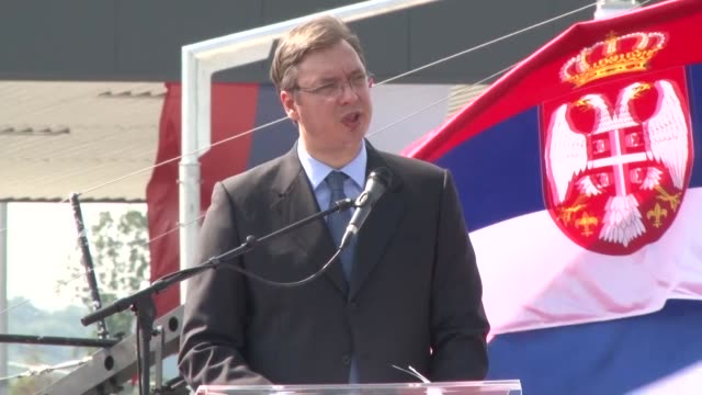 serbian prime minister aleksandar vucic delivers a speech at the opening of a motorway from doboj to banja luka in prnjavor, bosnia and herzegovina... - banja luka stock videos & royalty-free footage