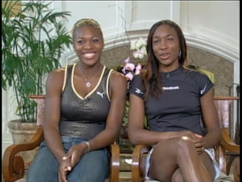 serena and venus williams seated - serena williams tennis player stock videos & royalty-free footage