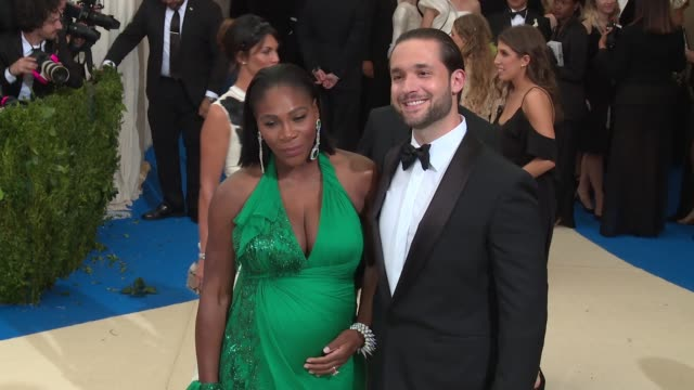 Serena Williams and Alexis Ohanian at Rei Kawakubo/Comme des Garcons Art Of The InBetween Costume Institute Gala Arrivals at The Metropolitan Museum...