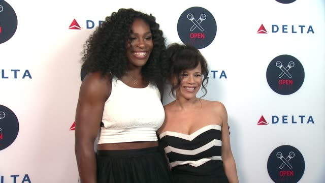 serena williams and rosie perez at 2nd annual delta open mic with serena williams at arena event space on august 26, 2015 in new york city. - rosie perez stock videos & royalty-free footage