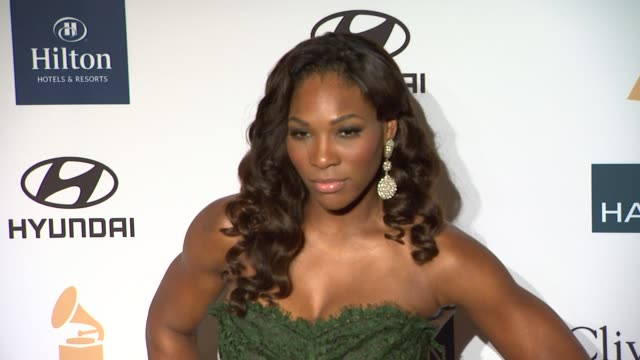 Serena Williams at Clive Davis And The Recording Academy's 2012 PreGRAMMY Gala And Salute To Industry Icons Honoring Richard Branson on 2/11/12 in...