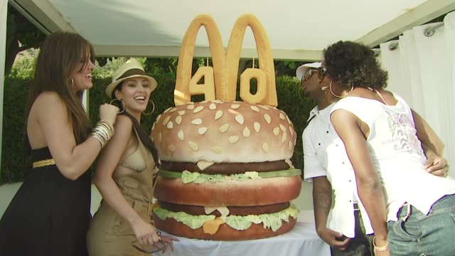 Serena Williams NeYo Kim Kardashian Khloe Kardashian at the 40th Birthday Party for McDonald's_ Big Mac_ at Malibu CA
