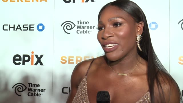 interview serena williams on how she was humanized by the documentary on her sister not being in the documentary as much as she is herself at the... - documentary film stock videos & royalty-free footage
