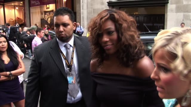 serena williams prewimbledon party arrivals at kensington roof gardens on june 17 2010 in london england - arrival stock videos & royalty-free footage