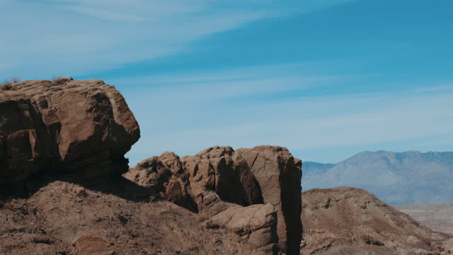 serene scenery of  canyon in anza borrego desert - arrangement stock videos & royalty-free footage