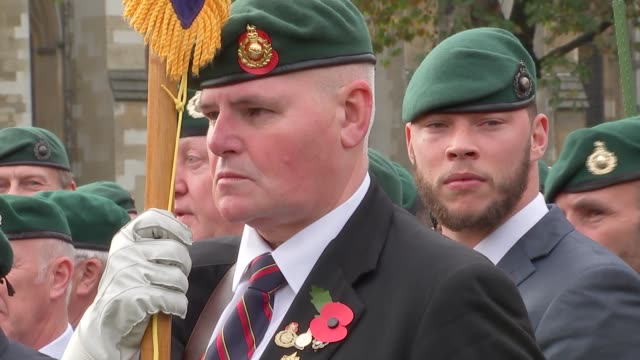 sergeant alexander blackman: military personnel defy orders to protest for jailed marine; england: london: westminster: parliament sqaure: ext... - royal marines stock videos & royalty-free footage