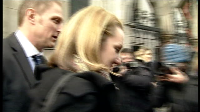 sergeant danny nightingale wins appeal against his conviction; danny and wife sally along and into taxi - sergeant stock videos & royalty-free footage