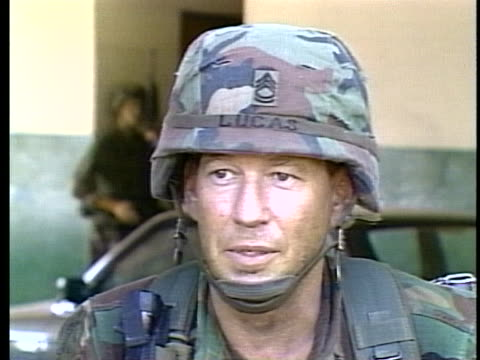sergeant first class william lucas of the 82nd airborne describes sniper tactics in use during the us invasion of panama. - sergeant stock videos & royalty-free footage