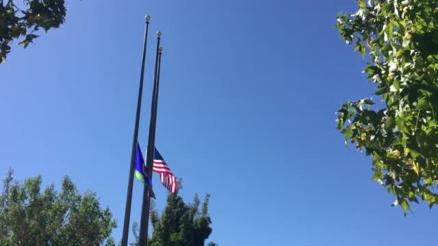 sergeant steve owen memorial outside lancaster sheriff station. - sergeant stock videos & royalty-free footage