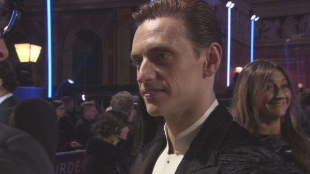 sergei polunin at murder on the orient express' world premiere at royal albert hall on november 02 2017 in london england - johnny depp stock videos and b-roll footage