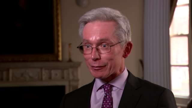 britain to expel 23 russian diplomats london int professor malcolm chambers interview sot/ car carrying theresa may along and through downing street... - sergei skripal stock videos and b-roll footage