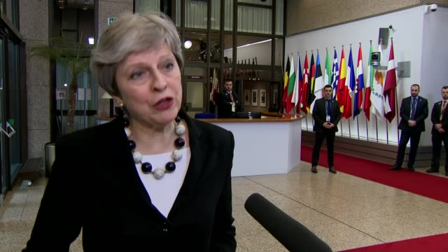 British diplomats expelled from Russia / Theresa May wins EU backing at Brussels summit Brussels EU Summit INT Theresa May MP speaking to press in...