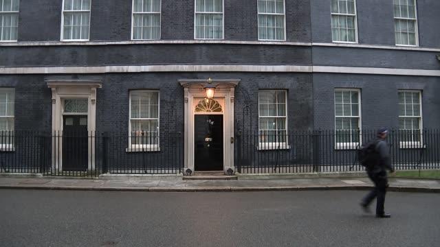 COBRA Downing Street arrivals ENGLAND London Downing Street EXT Various police / Gavin Williamson MP along