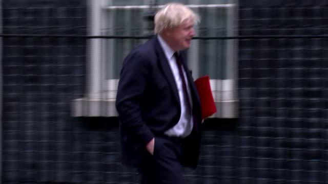 Expelled Russian diplomats leave the UK ENGLAND London Downing Street EXT Boris Johnson MP arriving for a meeting of the National Security Council
