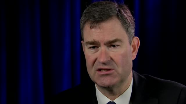 Expelled Russian diplomats leave the UK ENGLAND London Westminster INT David Gauke MP interview SOT Wiltshire Salisbury EXT Police officers standing...