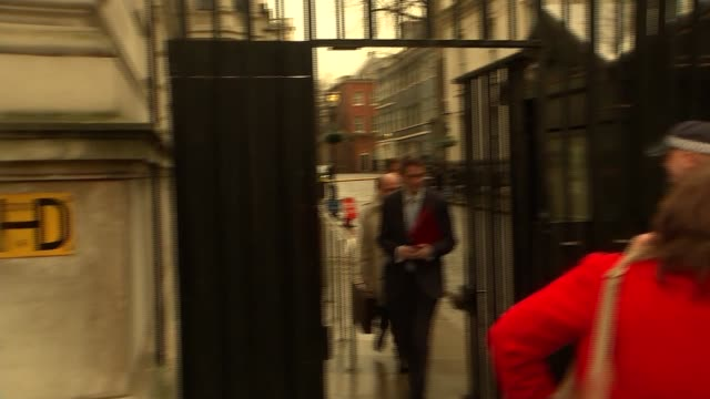 Gavin Williamson along for National Security Council meeting ENGLAND London Whitehall EXT Gavin Williamson MP arriving at Downing Street gate /...