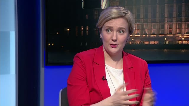 May warns Russia / Allies support the UK ENGLAND London Millbank INT Stella Creasy MP interview SOT