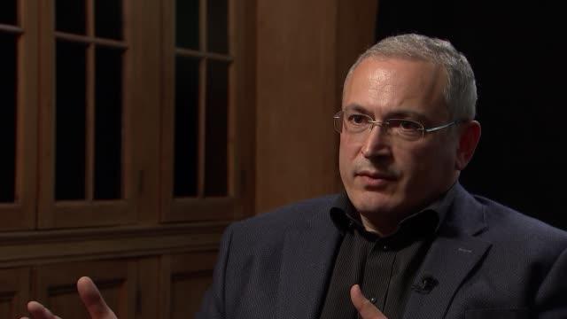 mikhail khodorkovsky interview england london mikhail khodorkovsky interview sot - sergei skripal stock videos and b-roll footage