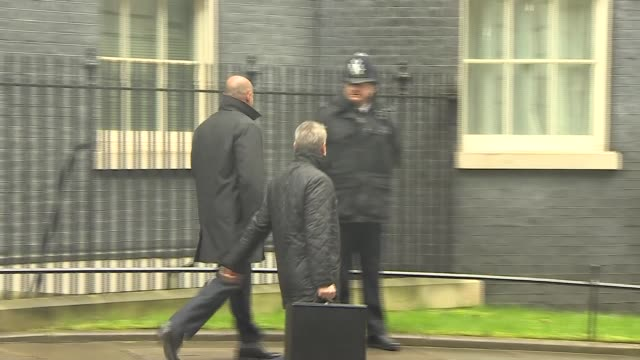 National Security Council meeting departures ENGLAND London Downing Street EXT Gavin Williamson MP away from Number 10 after National Security...