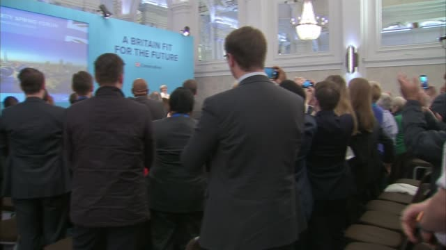 National Security Council set to meet to discuss deteriorating Russian diplomatic situation ENGLAND London INT Theresa May MP waving on stage at...