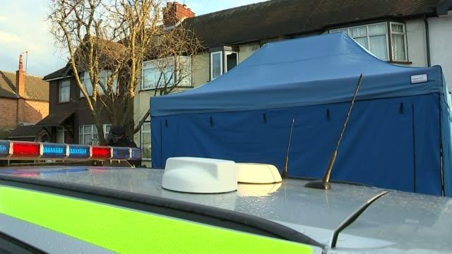 Russian businessman Nikolai Glushkov's death ruled a murder T130318019 / 1332018 ENGLAND London New Malden EXT Various of police officer standing...