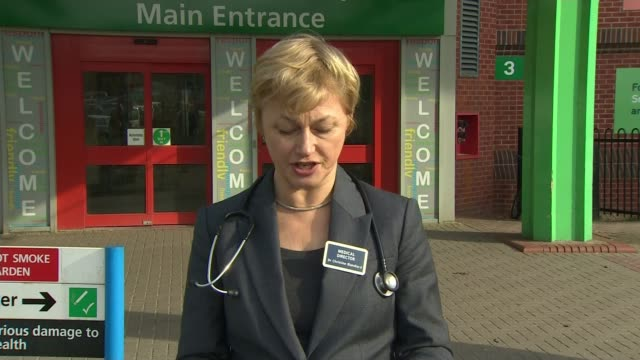sergei skripal no longer in critical condition salisbury district hospital ext dr christine blanchard statement to press outside hospital sot [re... - sergei skripal stock videos and b-roll footage