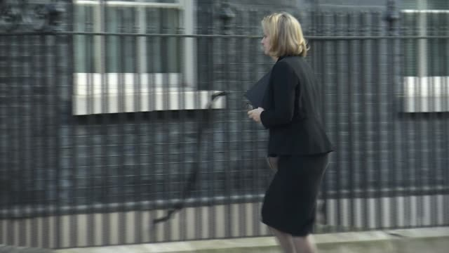 theresa may and donald trump discuss russia as investigations continue england london downing street ext amber rudd mp along chris grayling mp along... - sergei skripal stock videos and b-roll footage