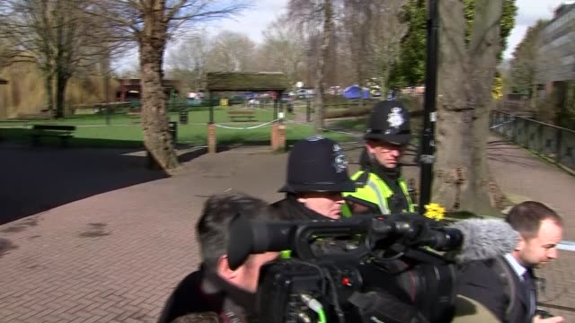 theresa may in salisbury england wiltshire salisbury ext theresa may mp arrival and greeted by chief constable keir pritchard and john glen mp / gvs... - sergei skripal stock videos and b-roll footage