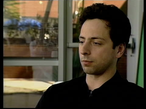 sergey brin interviewed sot almost anybody who deals with information probably uses google at some point - google stock videos & royalty-free footage