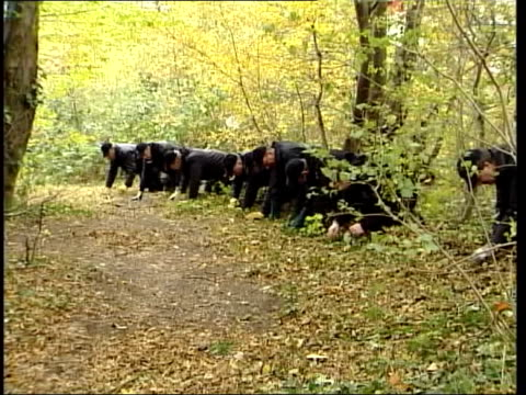 police release photofit lib hertfordshire stevenage police searching woodland where rape attack took place - stevenage stock videos and b-roll footage