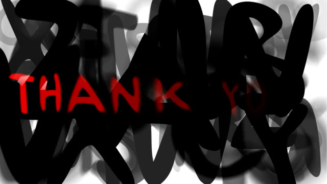 "thank you : series ""assemble your message"" (loop) - thank you stock videos and b-roll footage"