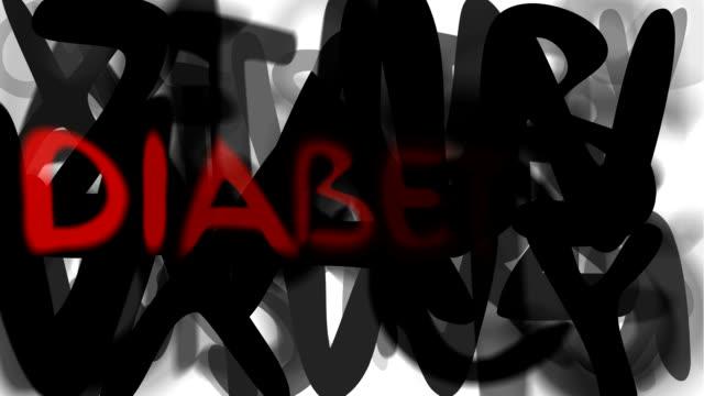 """diabete: serie """"assemblare il messaggio"""" (loop) - multi layered effect video stock e b–roll"""