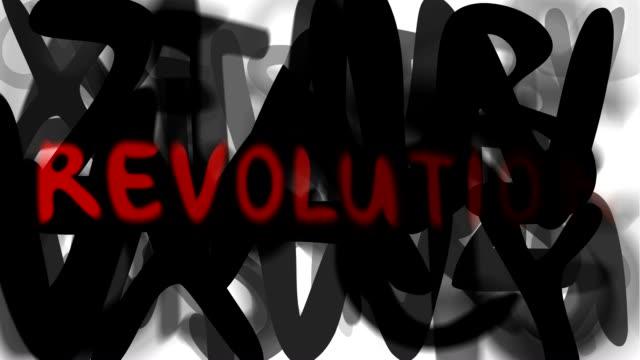 """rivoluzione: serie """"assemblare il messaggio"""" (loop) - multi layered effect video stock e b–roll"""
