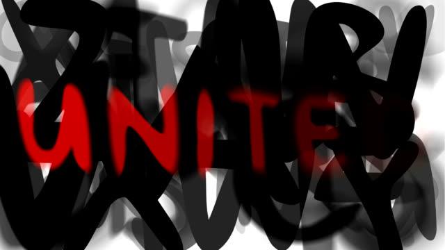 """united: serie """"montage ihre nachricht"""" (endlosschleife) - multi layered effect stock-videos und b-roll-filmmaterial"""