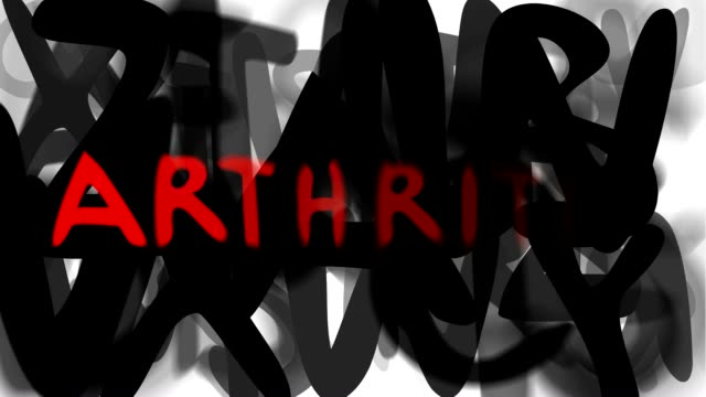 """arthritis: serie """"montage ihre nachricht"""" (endlosschleife) - multi layered effect stock-videos und b-roll-filmmaterial"""
