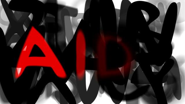 """aids: serie """"montage ihre nachricht"""" (endlosschleife) - multi layered effect stock-videos und b-roll-filmmaterial"""