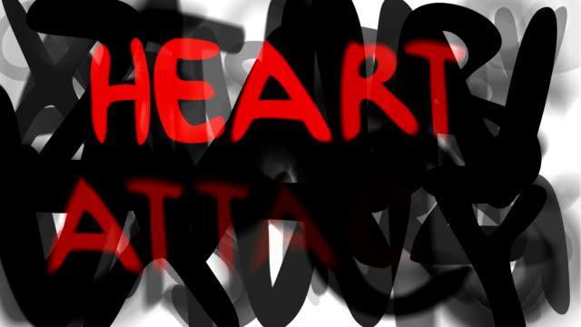 """heart attack: serie """"montage ihre nachricht"""" (endlosschleife) - multi layered effect stock-videos und b-roll-filmmaterial"""