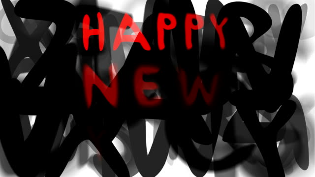 """felice anno nuovo: serie """"assemblare il messaggio"""" (loop) - multi layered effect video stock e b–roll"""